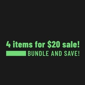Bundle 4 items listed at $15 and under